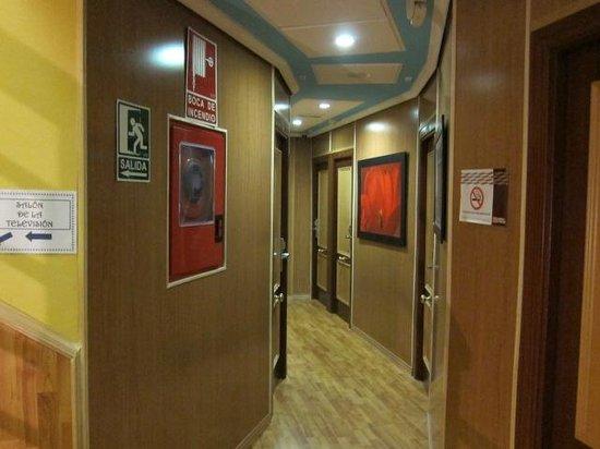 Hotel Las Nieves :                   廊下