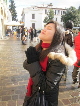 Prada Outlet (Space) : Wife praying for a taxi just outside the train station :)