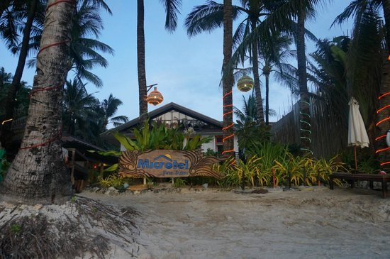 Microtel Inn & Suites by Wyndham Boracay:                                     The hotel from the beach