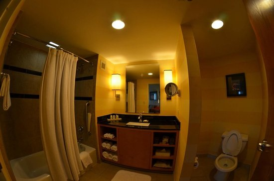 The Renaissance World Golf Village Resort:                                     Cleanest bathroom I have ever seen
