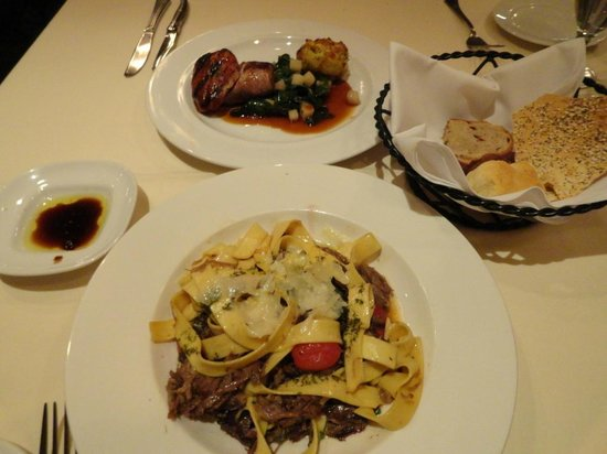Bistro at Biltmore Estate Winery: Pork tenderloin and Lamb Pappardalle