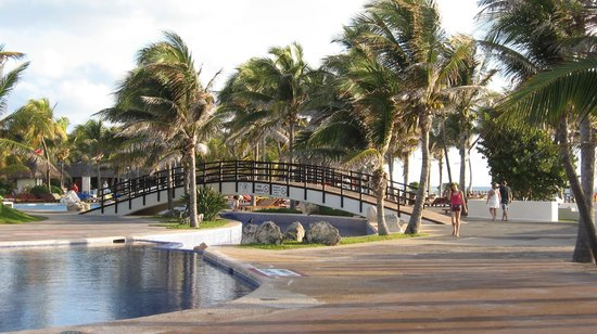 Grand Oasis Cancun:                   One of many bridges on the property