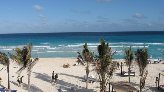 Grand Oasis Cancun:                   View from the terrace