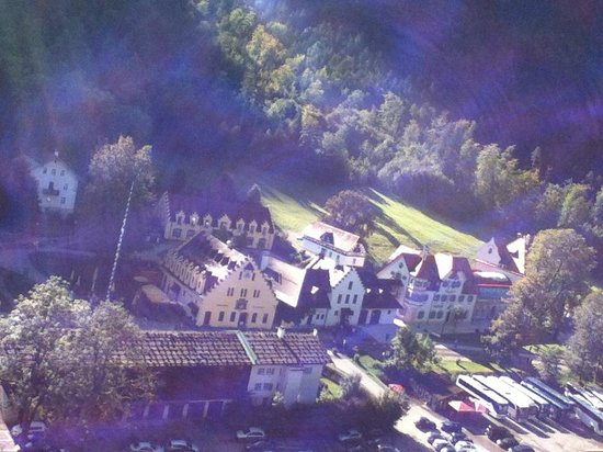 Alpenhotel Allgaeu:                   view of village from hohenschwangau