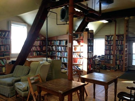 Montague Bookmill:                   Another loft view, often used as a performance space at night.