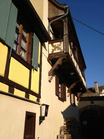 Le Gambrinus :                   The suite balcony