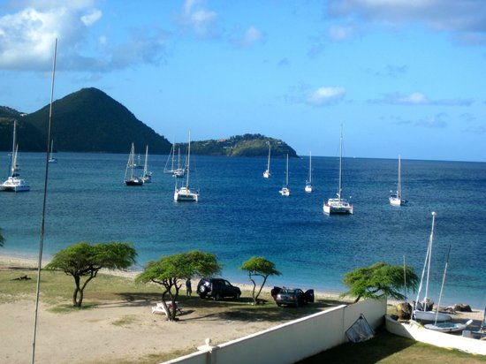 The Landings St. Lucia:                   View from the front of our room