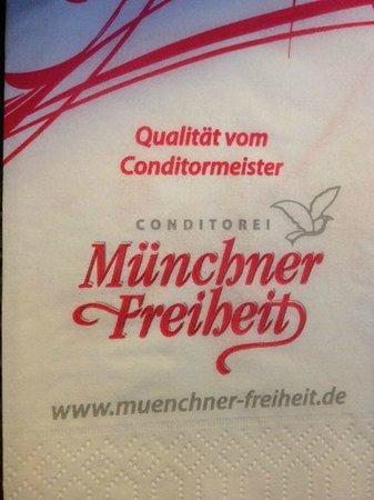 Café Münchner Freiheit:                   napkin
