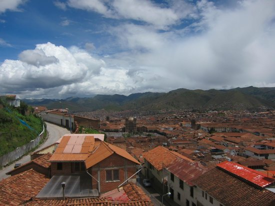 Don Bosco Hotel:                   View of Cusco from hotel