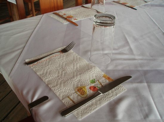 The Placencia Hotel and Residences:                   paper towels for napkins