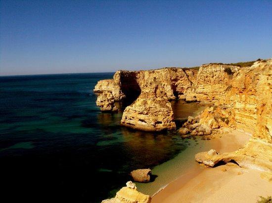 Praia marinha:                   Aussicht von oben