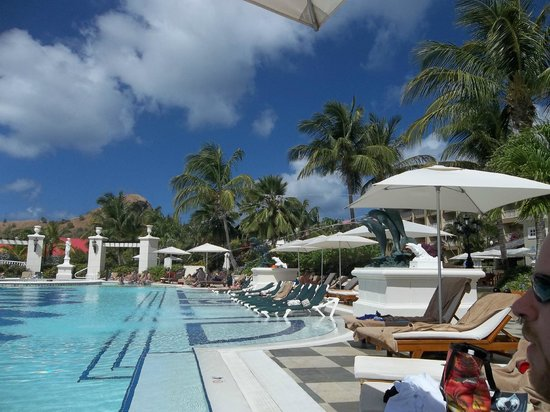 Sandals Grande St. Lucian Spa & Beach Resort:                   The amazing weather and sky!