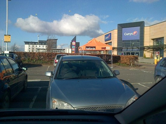 Premier Inn Edinburgh Park (The Gyle) Hotel:                   from the shops near the hotel halfords poundland tescos b&q and a few more sho
