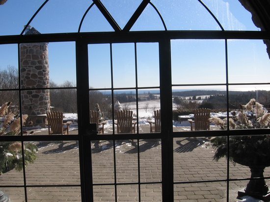 Ste. Anne's Spa:                   View through the Glass