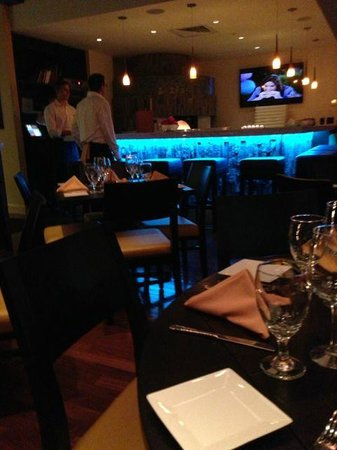 Mancini's:                   The bar changes colors