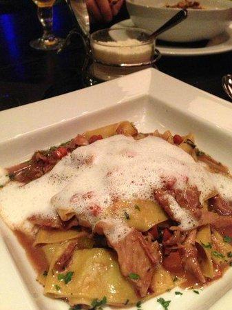 Mancini's:                   Rabbit Ragu with truffle foam
