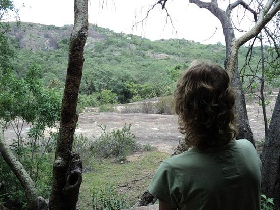 Big Cave Camp:                   Our view of the Matobo Hills from the veranda