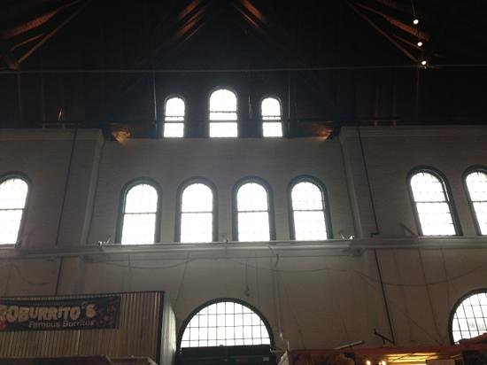 York Central Market House:                   View from the inside seating area