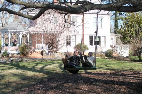 Swing outside The Beaufort House Inn