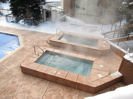 Iron Horse Resort:                   Outside Jacuzzi