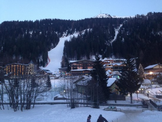 Spinale Hotel:                   The hotel on the right side of the slope