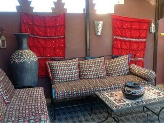 Riad La Porte Rouge:                   Terrace
