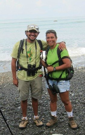 Drake Bay, Costa Rica: Our guides Kenneth and Zobeida