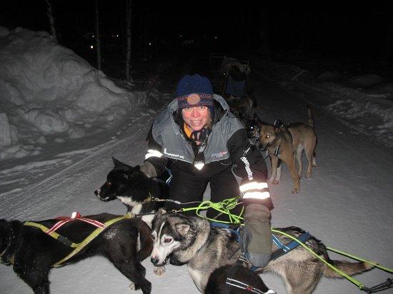 Northern Lights Husky Day Tours:                                                       me with the huskies