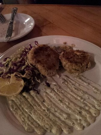Dini's By The Sea:                   Crab Cakes and yummy aioli