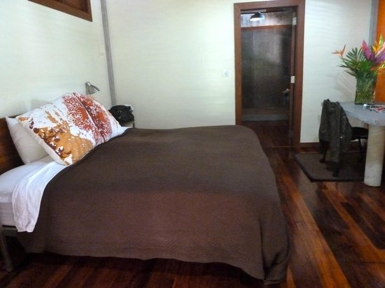 Pagua Bay House Oceanfront Cabanas:                   One of the most comfortable beds I've ever slept