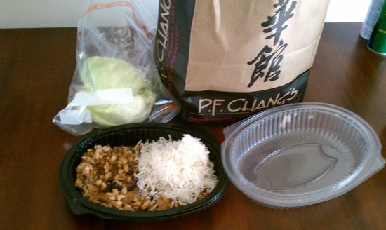 P.F. Chang's :                                     Great take out service