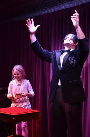 Marrakech Magic Theater:                                     Peter does mentalism with a little girl from the crowd and t