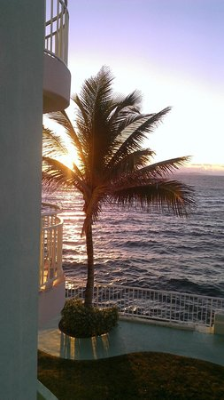 Oyster Bay Beach Resort:                   Sunrise from our unit