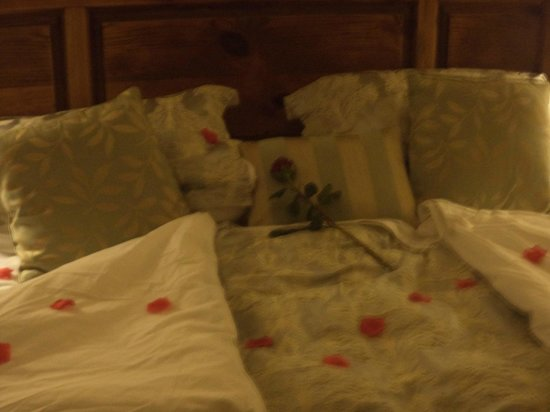 Knock Castle Hotel & Spa:                   Romantic Petal Turndown