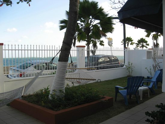 Tres Palmas Inn:                   Looking out at the Ocean