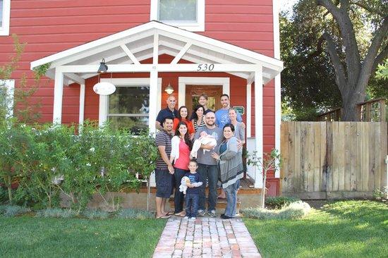 Emily's House B & B:                                     Family photo at Emily's house