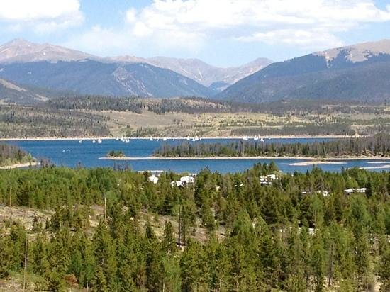 Dillon Reservoir:                   Taken from rest stop on I-70 between Frisco and Silverthorne.
