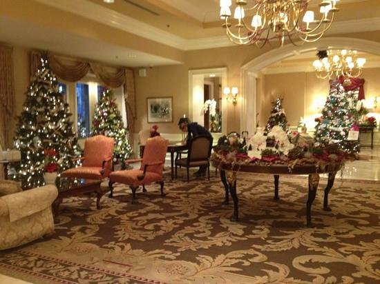 The Sutton Place Hotel Vancouver:                   themed Christmas trees