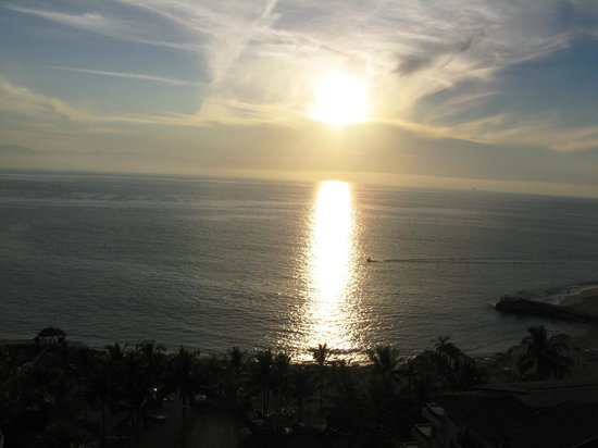 Friendly Vallarta All Inclusive Family Resort:                   One of the many beautiful sunsets, as seen from our balcony