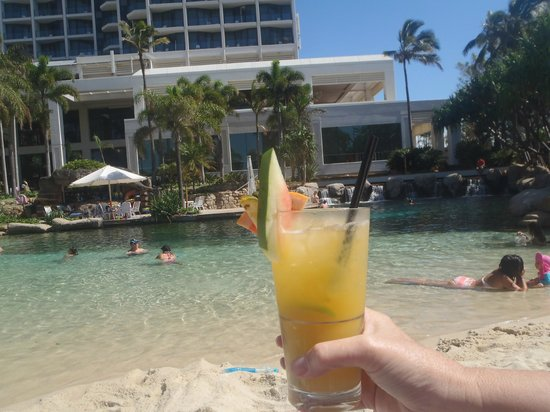 Surfers Paradise Marriott Resort & Spa:                   Drinks by the pool