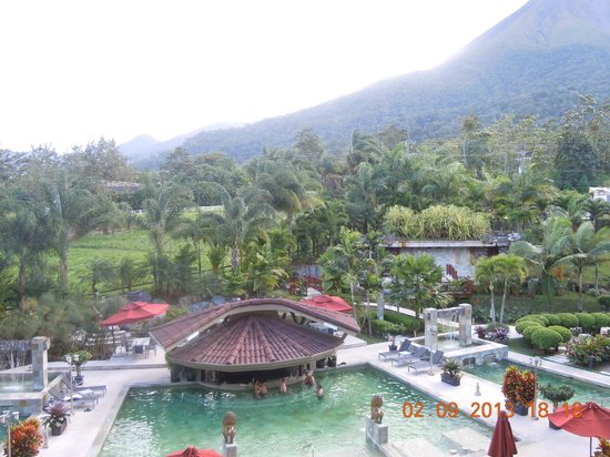 The Royal Corin Thermal Water Spa & Resort:                   View to pool area from balcony