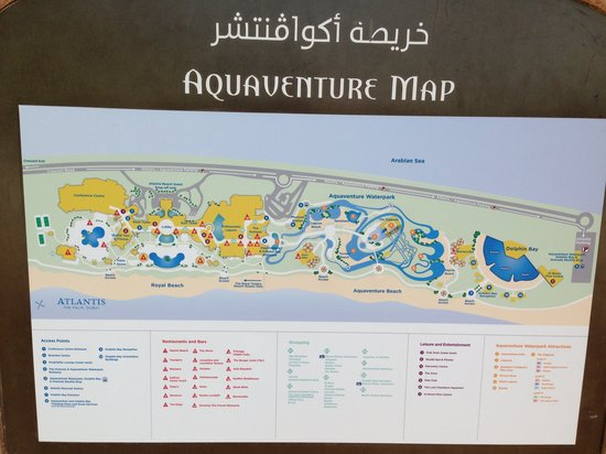 Map waterparc - Bild von Atlantis, The Palm, Dubai - TripAdvisor
