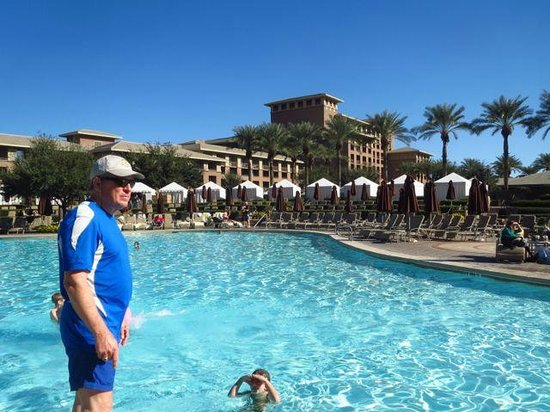 The Westin Kierland Resort & Spa:                   View of hotel from massive pool area