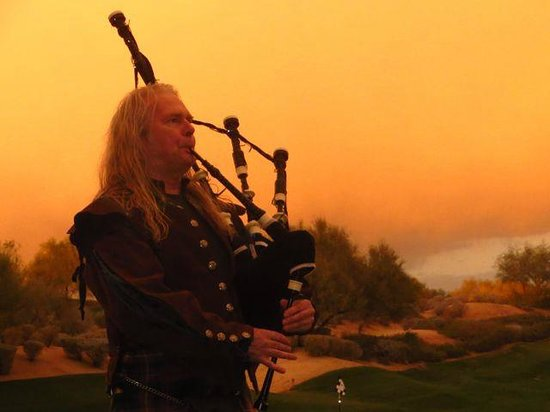 The Westin Kierland Resort & Spa:                   Bagpiper at sunset