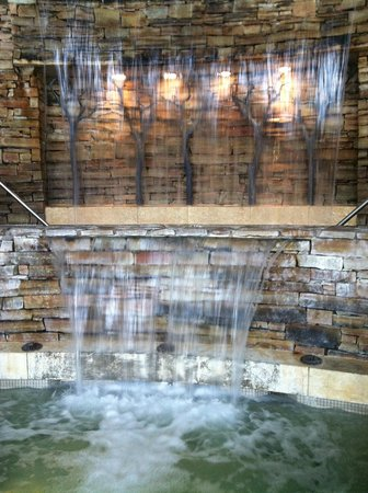 The Lodge at Woodloch:                   inside waterfall