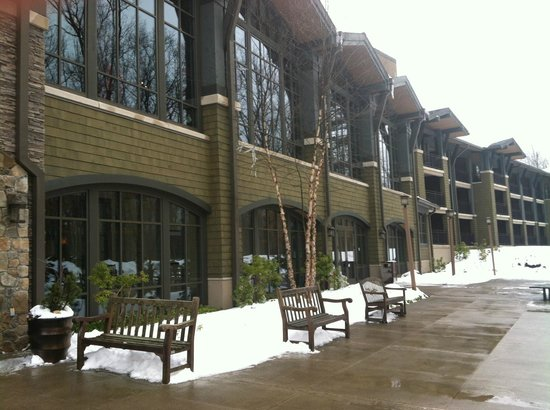 The Lodge at Woodloch:                   outside rear entrance