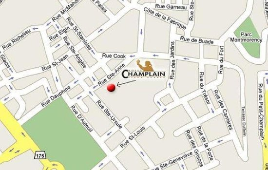 Le Champlain Hotel: location of the hotel