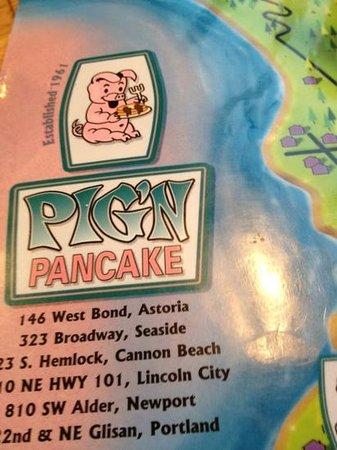 Pig 'N Pancake: menu 2013
