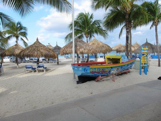 Hilton Aruba Caribbean Resort & Casino:                   The Radisson Beach