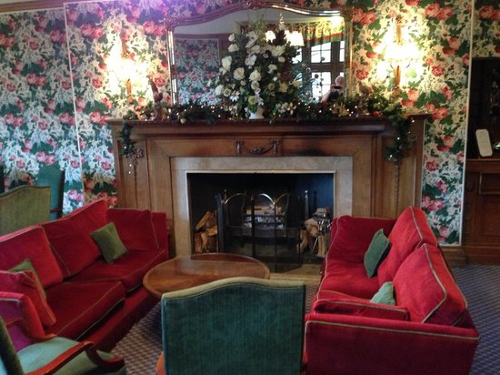 Murrayshall Country House Hotel & Golf Courses:                   Fireplace in lounge
